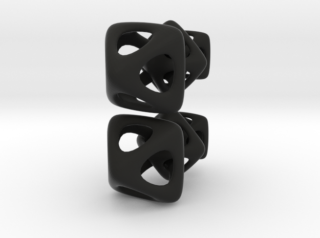 Three linked octohedrons 3d printed