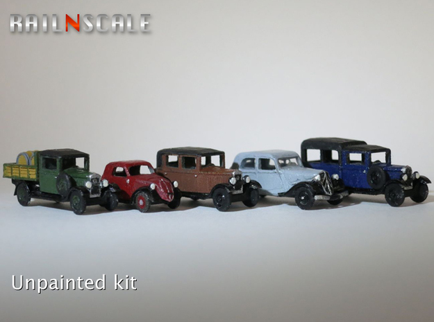 SET French and Italian 1930s cars (N 1:160)