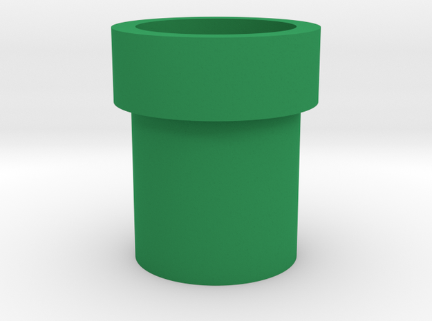 Mario Pipe Flowerpot in Green Strong & Flexible Polished