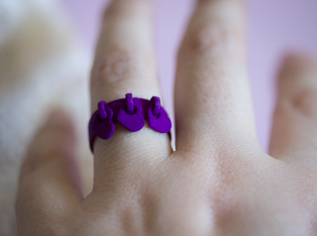 Heart Charm Ring in Purple Strong & Flexible Polished: 6.5 / 52.75