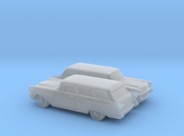 1/160 2X 1957 Chevrolet One Fifty Nomad in Smooth Fine Detail Plastic