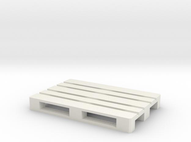Euro Pallet 1/32 in White Natural Versatile Plastic
