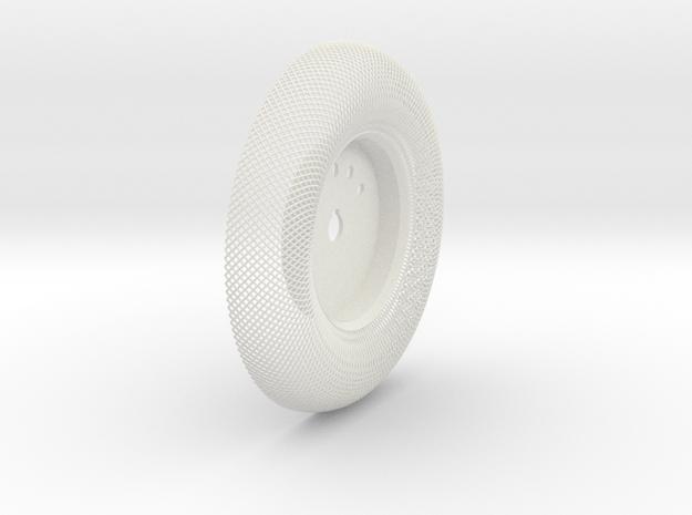 C-LRV Wheel  Inner Mesh & Hub-FR&BL in White Strong & Flexible