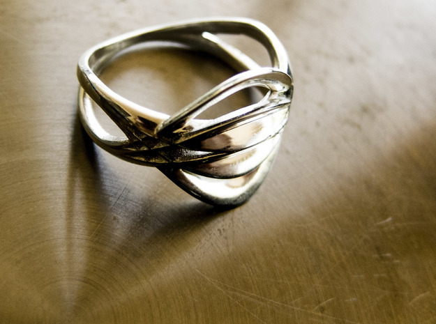 Sono.B ring in Polished Silver