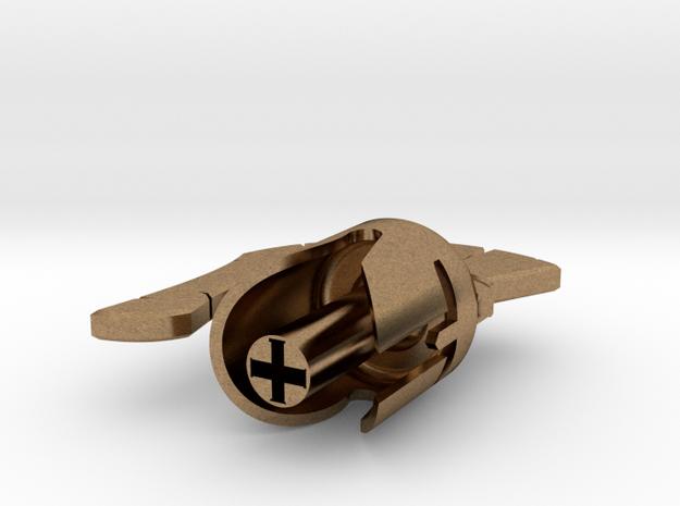 Spartan Keycap in Natural Brass
