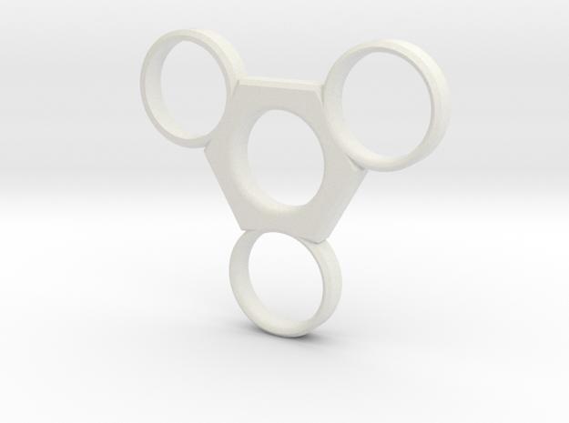 Tri Hexa EDC in White Strong & Flexible