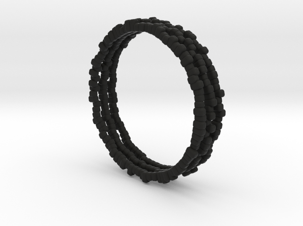 Bracelets Nigella Formosa in Black Natural Versatile Plastic: Large