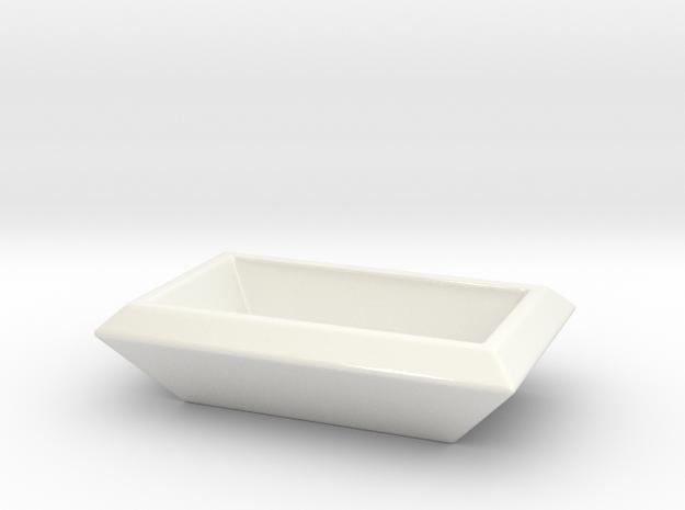 Bonsai Pot in Gloss White Porcelain