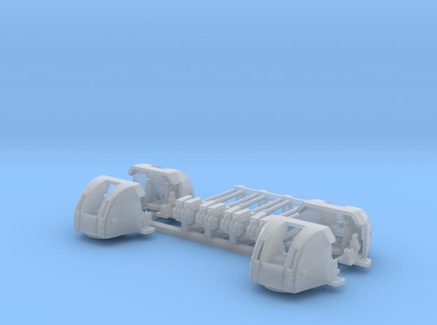 1/400 RN 4 Inch Twin MKXVI Gun x4 in Smoothest Fine Detail Plastic