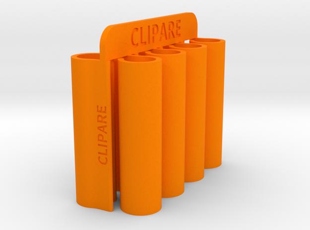 CLIPARE x 8 (for 2 pair of shoes) in Orange Processed Versatile Plastic