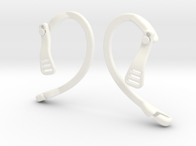 EnginEars- Active Earbud Adapters in White Strong & Flexible Polished