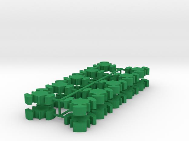 Game Piece, Imperial Republic Station, 20-set in Green Processed Versatile Plastic