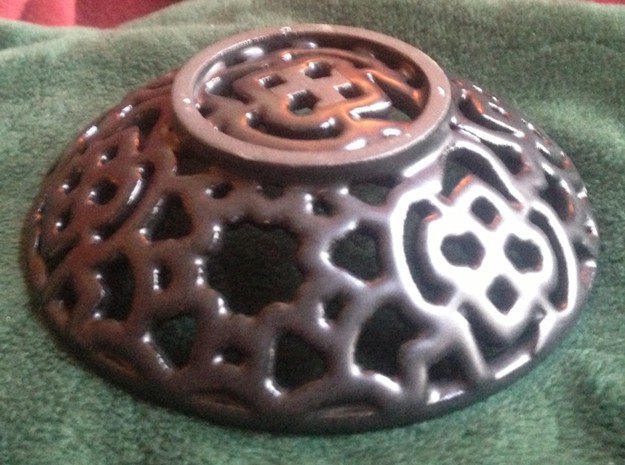 Squiggle Soap Dish 3d printed Bottom View
