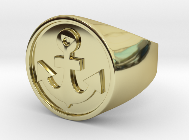 Anchor Band S. -  Signet Ring