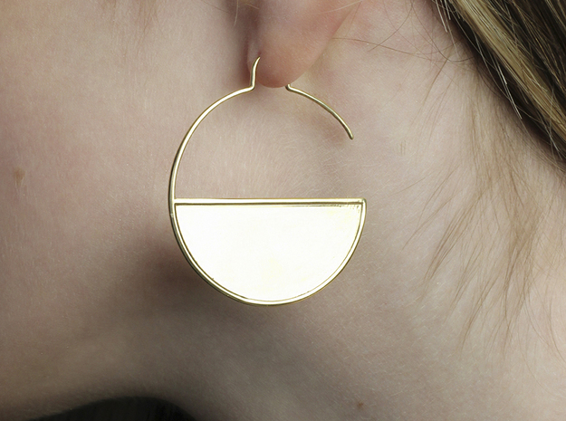 Geometric Large Hoops Earrings