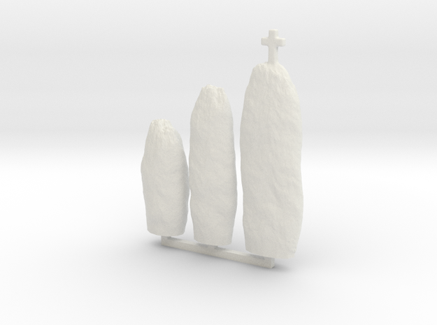 HOPh01 Menhirs in White Natural Versatile Plastic