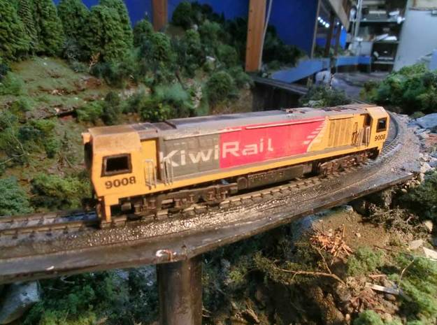 NZ120 KIWIRAIL DL CLASS incl Bogie Sideframes 3d printed Printed in FUD, handrails, airhoses, couplers & decals added