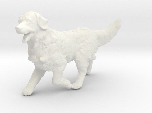 1/24 Running Golden Retriever Male in White Natural Versatile Plastic