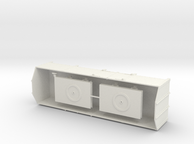 1:43,5 / 0 scale TPT Decauville steel wagon in White Natural Versatile Plastic