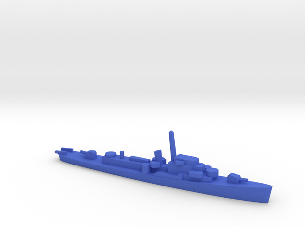 1/1200 Rudderow in Blue Processed Versatile Plastic