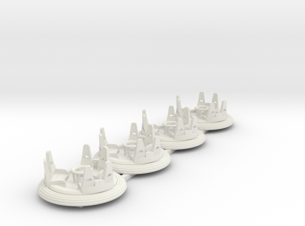 Raging Rapids 4pack in White Natural Versatile Plastic
