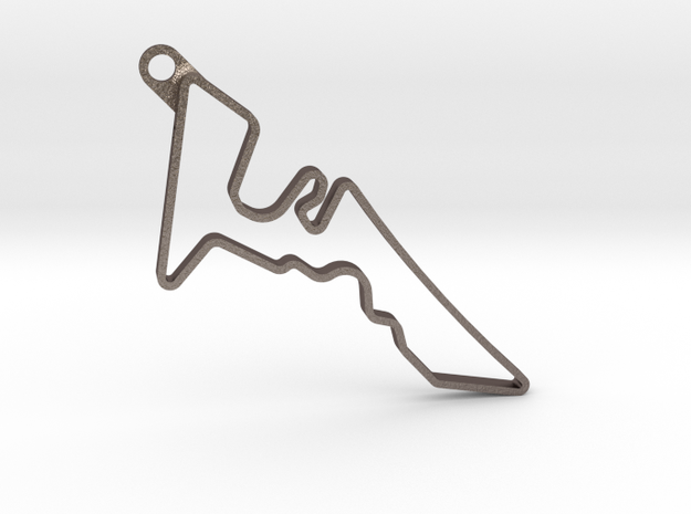 CIRCUIT OF AMERICAS Pendant in Polished Bronzed Silver Steel