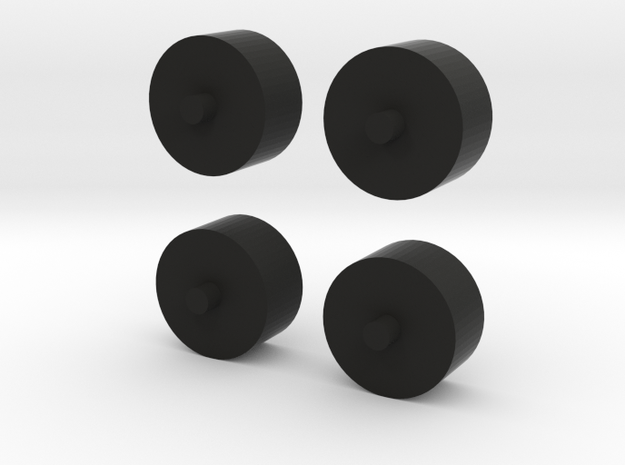 Foxic 1/10th scale model wheels  in Black Natural Versatile Plastic