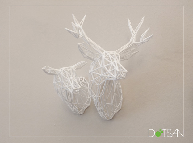 Wired Life Stag 150mm Facing Left 3d printed Stag facing left with doe