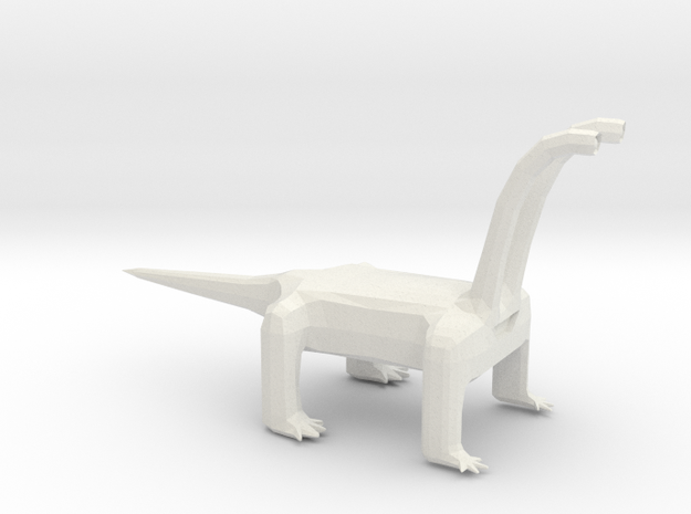 Long Neck Monster Alien in White Natural Versatile Plastic: Small