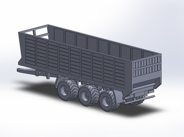 NEW!!! 1:160/N-Scale Silage Trailer 3-axle in Smooth Fine Detail Plastic