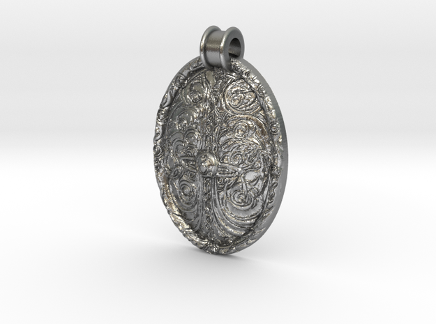 Great tree of Unity Pendant in Raw Silver