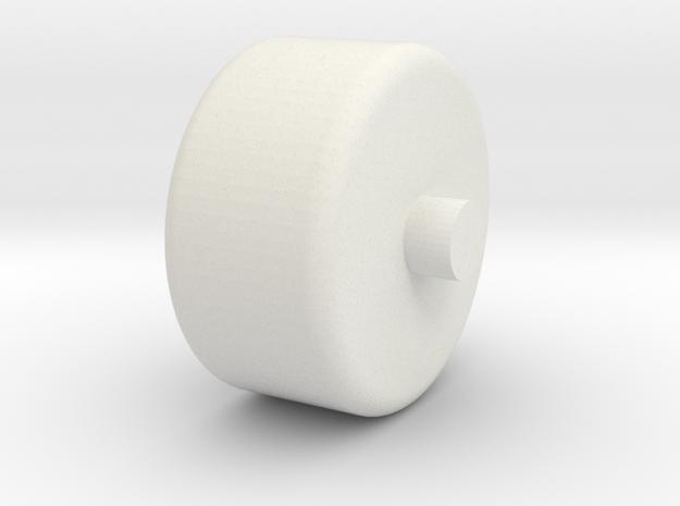 Foxic 1/10th scale model wheel in White Natural Versatile Plastic