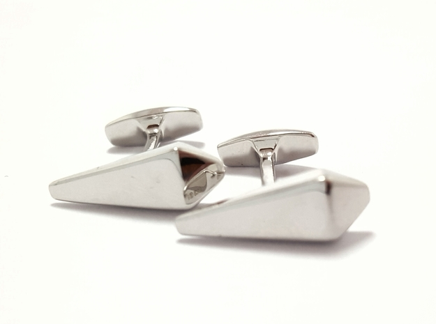James Bond Coffin Cufflinks in Polished Silver