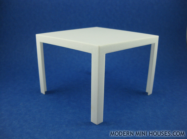 Quatro Modern Dining Table 1:12 scale 3d printed