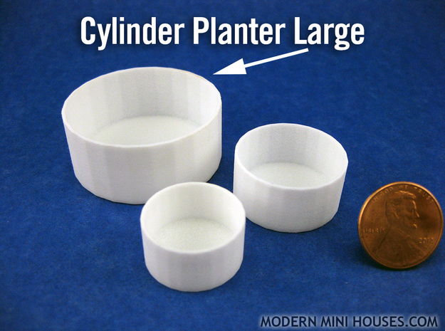Cylinder Planter Large 1:12 scale 3d printed