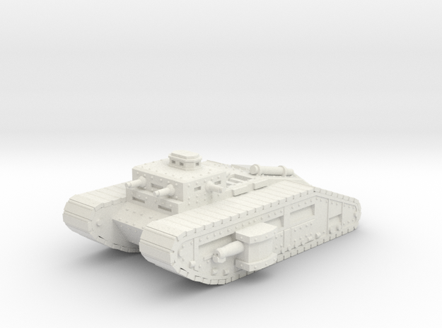 Infantry Flame Tank 15mm in White Natural Versatile Plastic