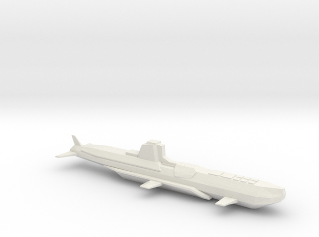 Submarine_stardust1 in White Natural Versatile Plastic