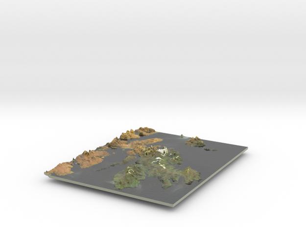 Isle Of Skye Map, Scotland in Coated Full Color Sandstone