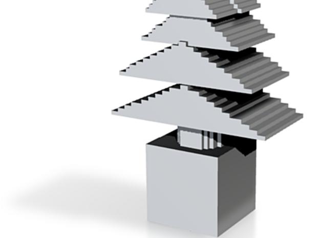 minecraft christmas tree 3d printed