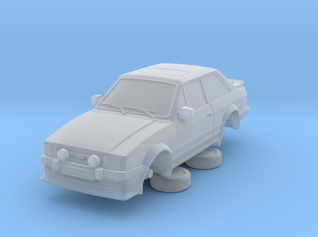 Ford Escort Mk3 1-76 2 Door Rs Turbo in Smooth Fine Detail Plastic