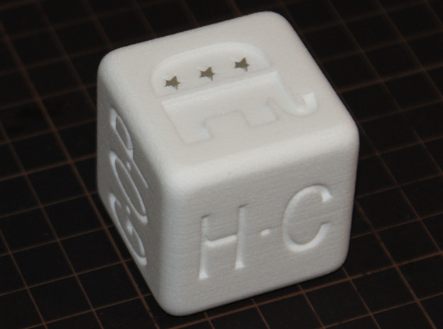 Super Dice for Tuesday : M  in White Strong & Flexible Polished