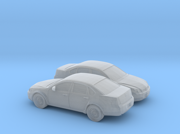 1/160 2X 2005-12 Chevrolet Impala in Smooth Fine Detail Plastic