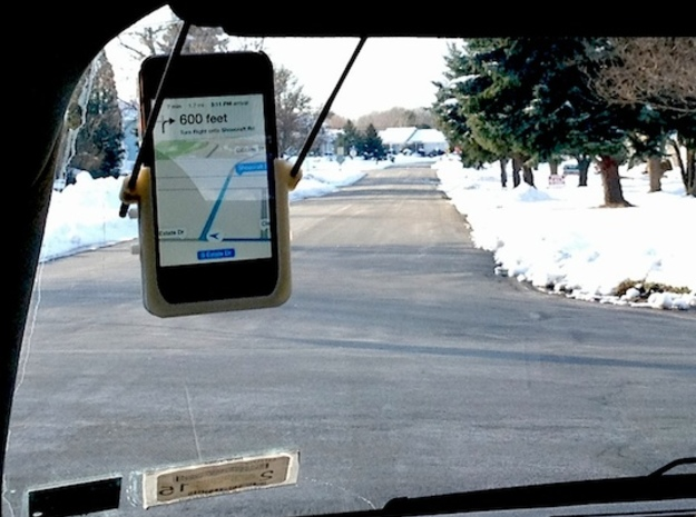 Hands-Free GPS Kit for iPhone in White Natural Versatile Plastic