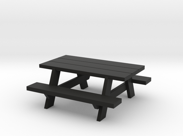 Picnic Table S-Scale in Black Strong & Flexible