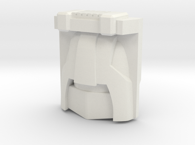 Brawn, G1 Toy Face (Titans Return) in White Natural Versatile Plastic