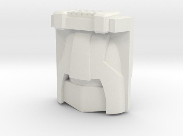 Brawn, G1 Toy Face (Titans Return) in White Natural Versatile Plastic
