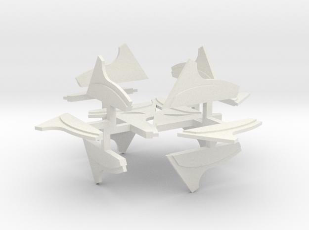 Black Trireme Replacement Wake Streamers in White Natural Versatile Plastic