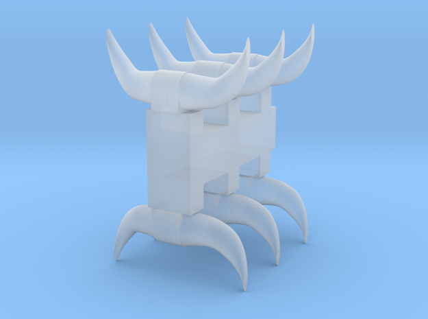 6 Short horns in Smooth Fine Detail Plastic