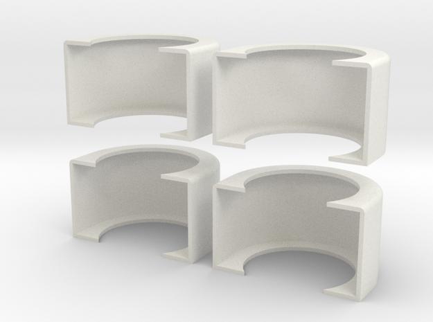 1/16 Fenders  in White Natural Versatile Plastic