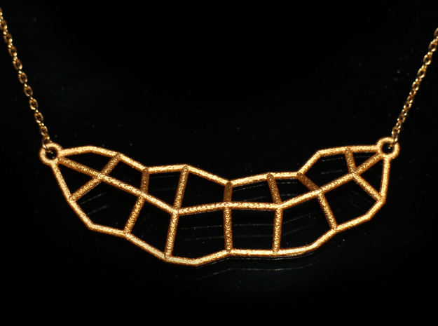 Leaf Necklace Mini in Polished Gold Steel